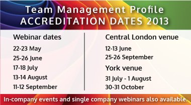 Team Management Profile Accreditation dates